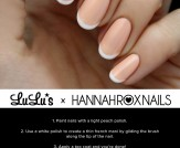 Mani Monday: Peach and White French Nail Tutorial