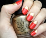 Mani Monday: Gold and Red Holiday Nail Tutorial