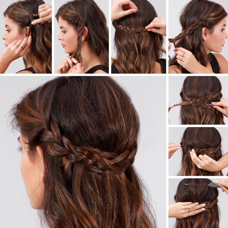 Superb Lulus How To Braided Crown Hair Tutorial Lulus Com Fashion Blog Schematic Wiring Diagrams Phreekkolirunnerswayorg