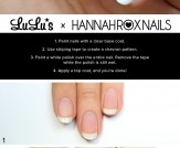 Mani Monday: White Chevron Negative Space Nail Tut…