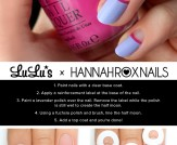 Mani Monday: Lavender and Fuchsia Half Moon Nail T…