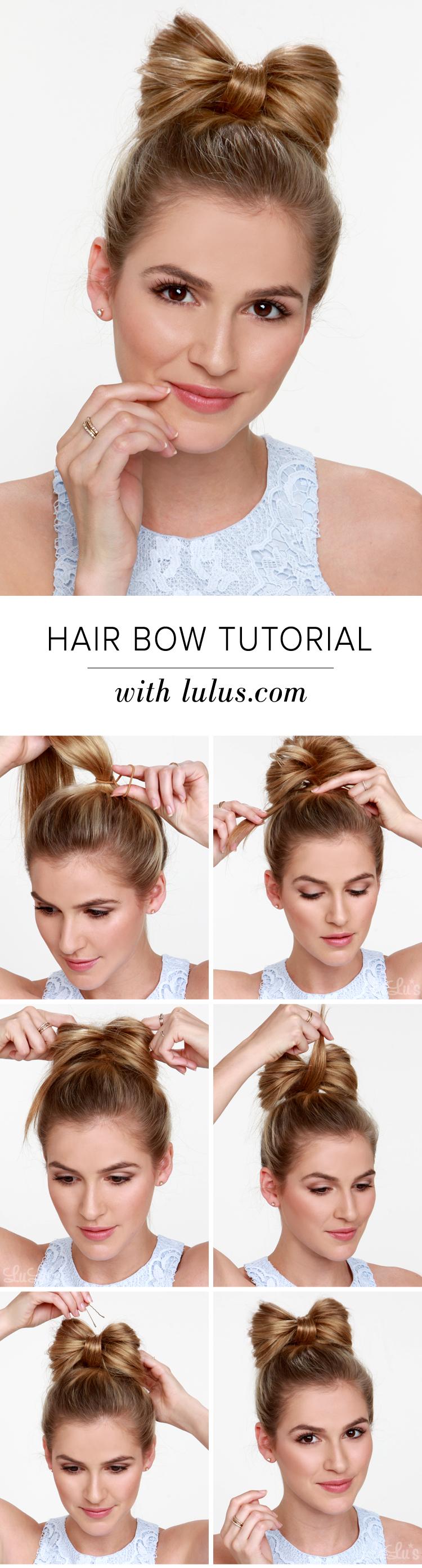 Lulus How To Hair Bow Tutorial Lulus Com Fashion Blog