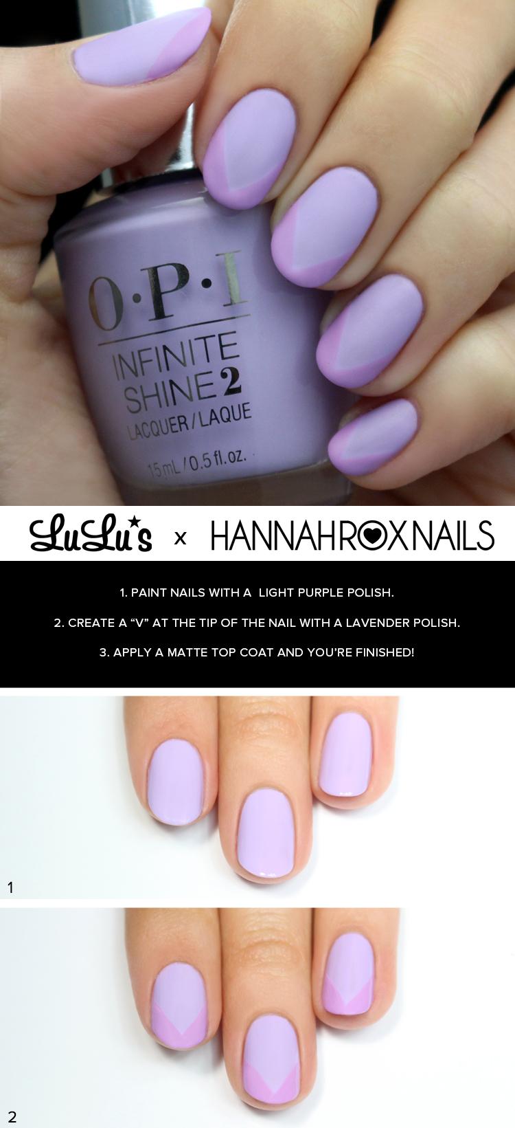 Matte Lavender nail