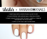 Mani Monday: Black and White Striped Nail Tutorial