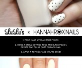 Mani Monday: Cream and Black Polka Dot Nail Tutori…