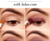 LuLu*s How-To: Navy and Plum Smokey Eyeshadow Tuto…