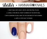 Mani Monday: Nude and Navy Blue Floral Nail Tutori…