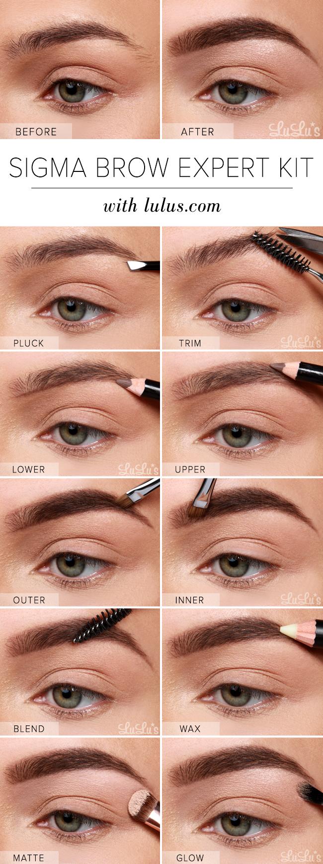 Lulus How To Sigma Brow Expert Kit Eyebrow Tutorial Lulus Com