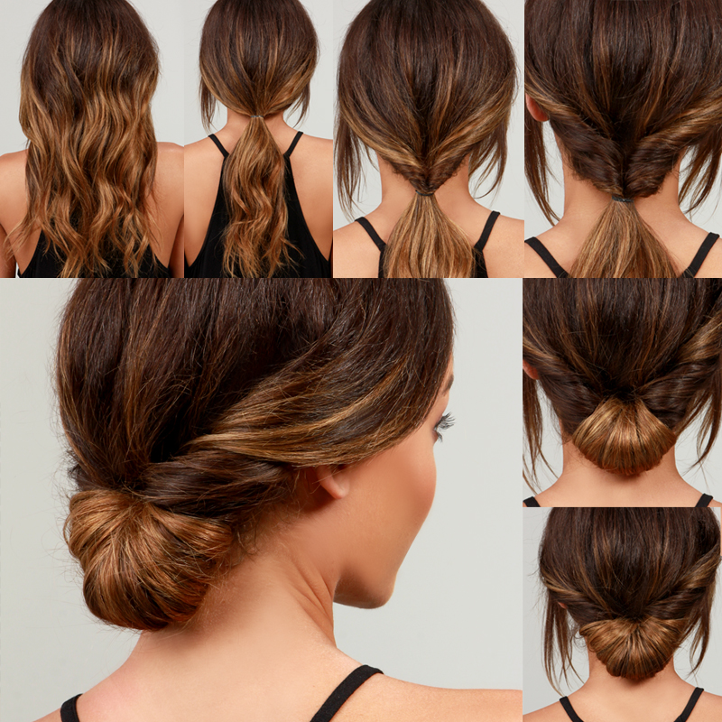 Hairstyle How To : LuLu*s How-To: Simple Chignon Hair Tutorial - Lulus.com Fashion Blog