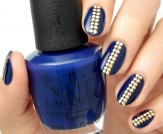 Mani Monday: Navy Blue Studded Nail Tutorial