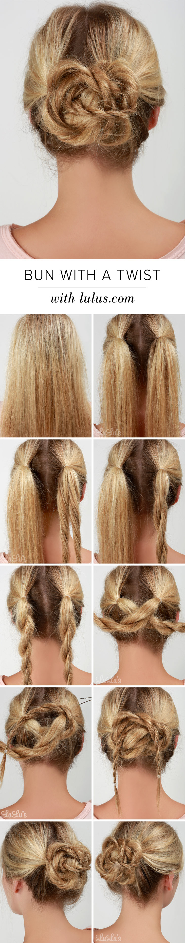 how to make a bun with just an elastic