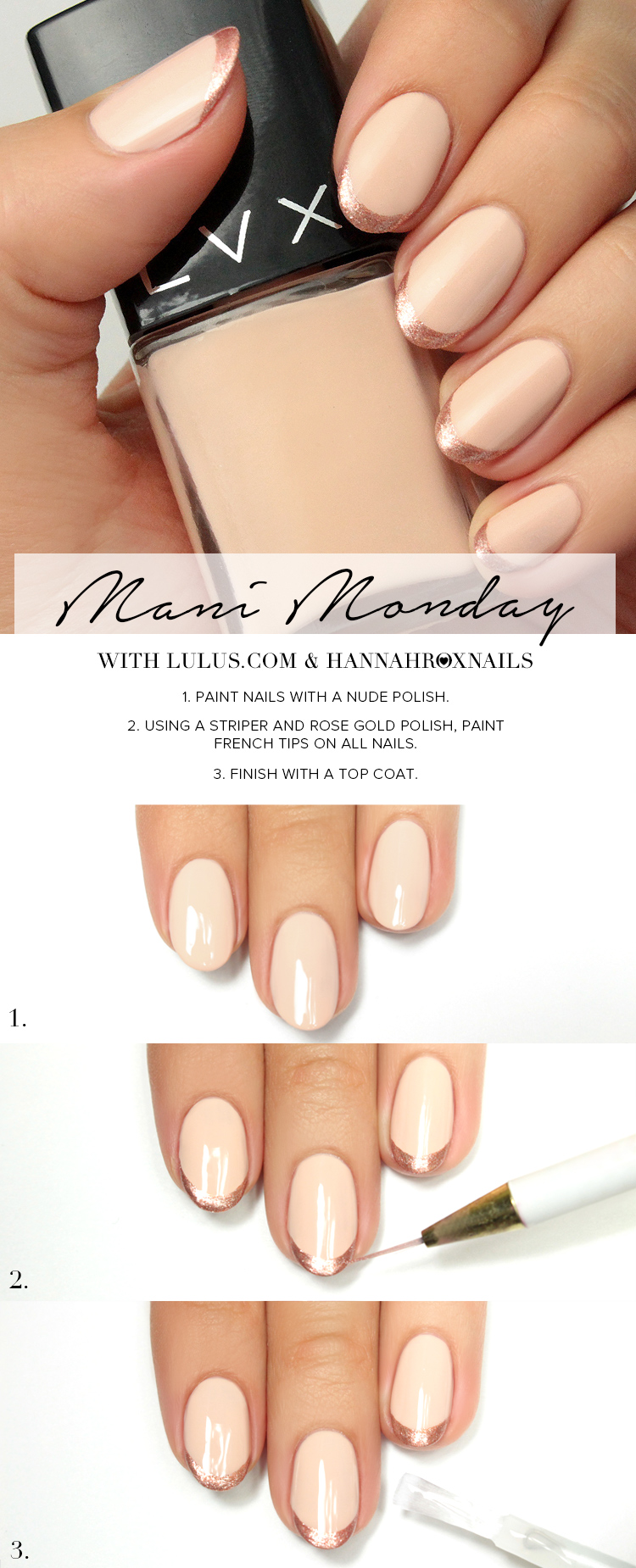 rose gold french tip
