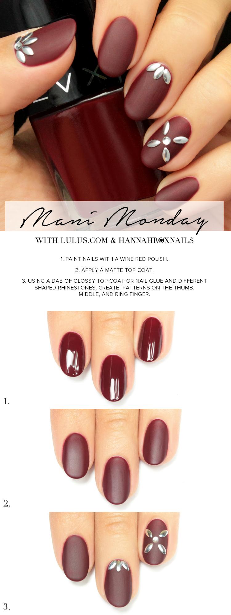 Cute Fall Nails - Matte Burgundy Nail Tutorial - DIY | Bellashoot