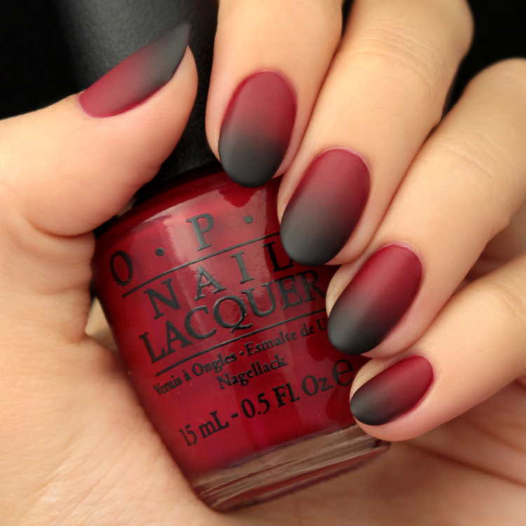 Mani Monday Black And Red Ombre Nail Tutorial Lulus Com Fashion Blog