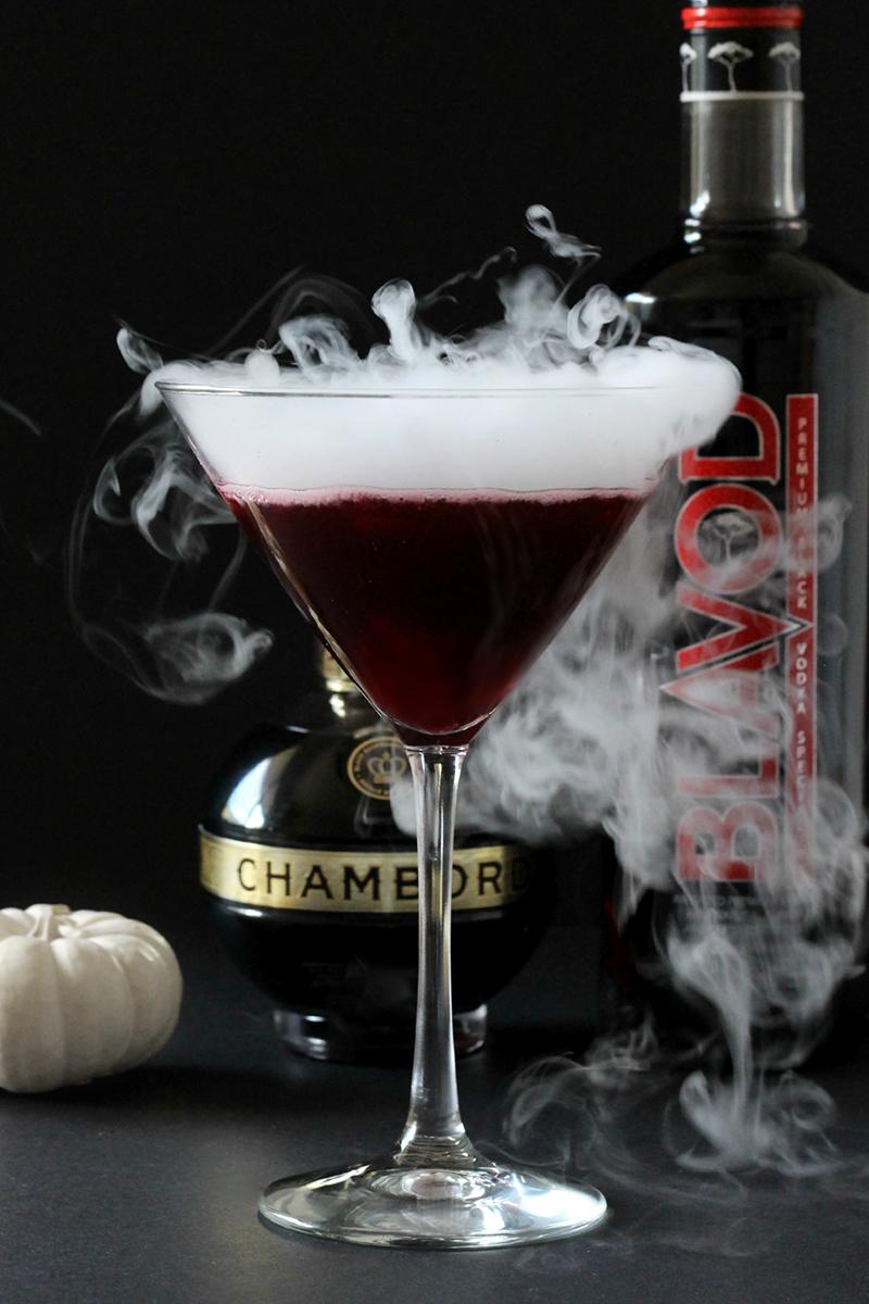 Black Widow Halloween Cocktail