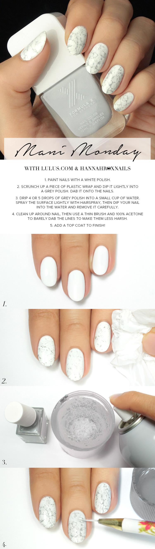 white marble nail