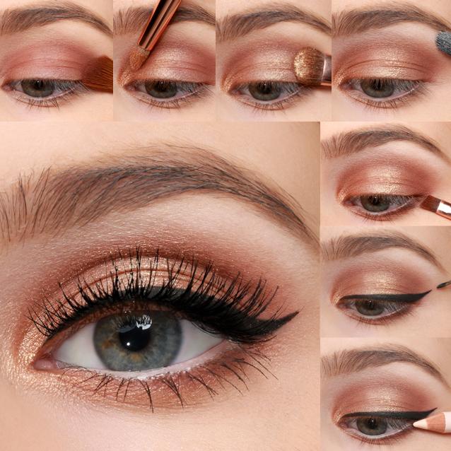 Smokey eye makeup tutorial for blue eyes makeup tutorials.