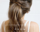 Prom Perfect Hair – The Tousled Ponytail