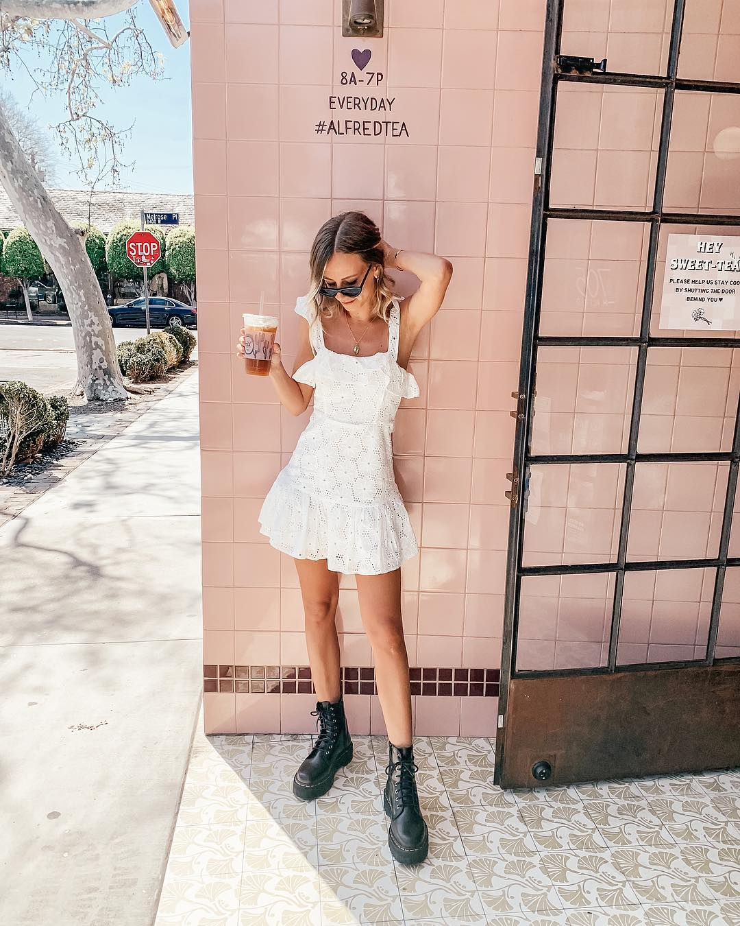 boots with white dress