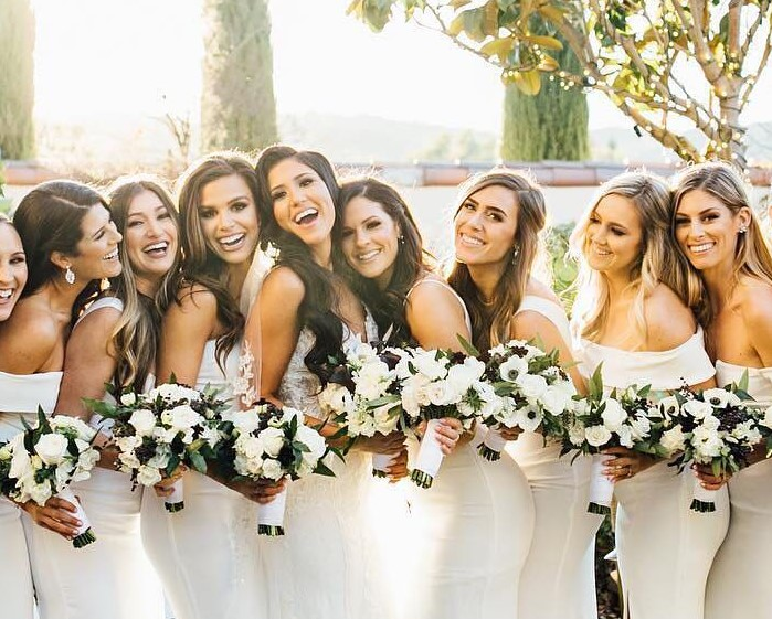 0674937664eb 7 Bridal Parties That Will Make You Fall in Love With the White ...