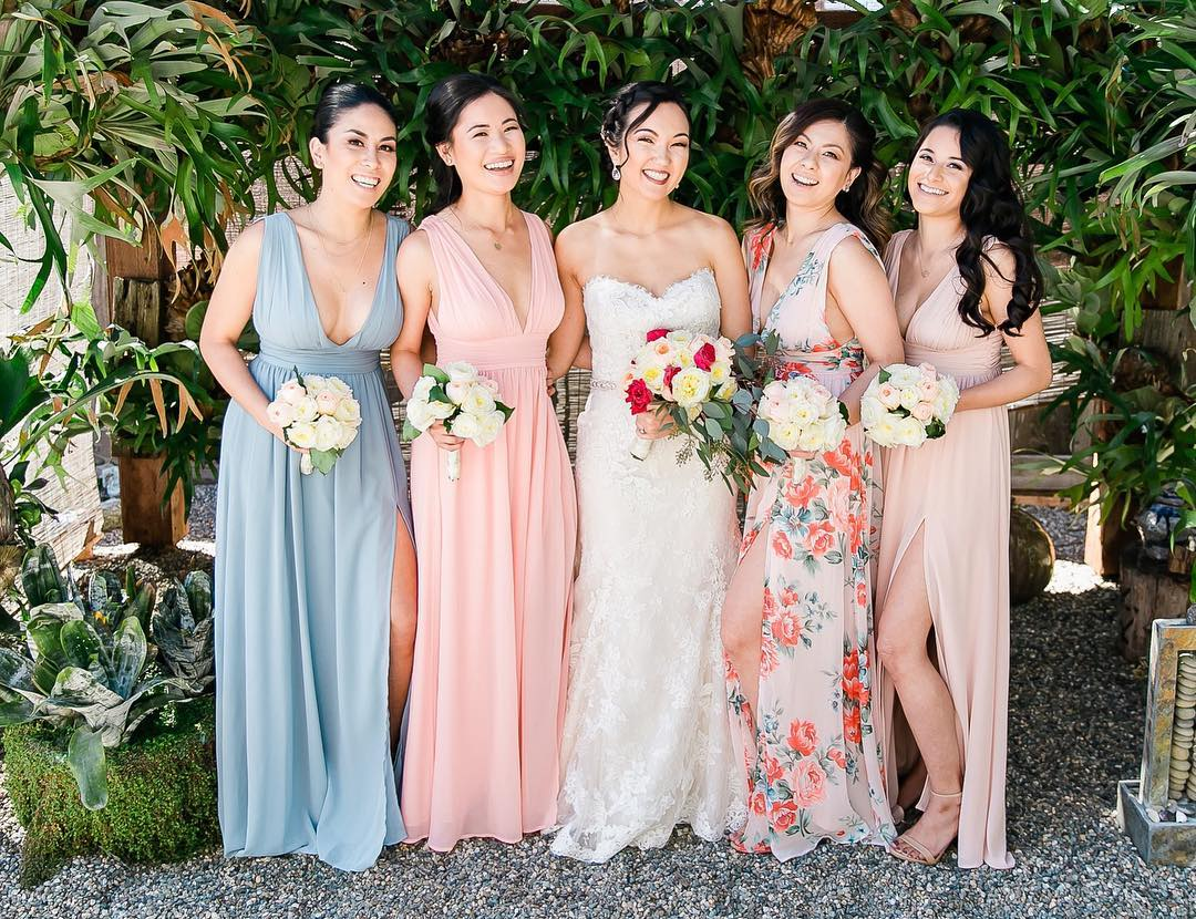 7933bdb38d8 Looking to mix it up with your own bridal party but need help curating mismatched  bridesmaid dresses  Check out our blog post Mismatched Bridesmaid Dresses   ...