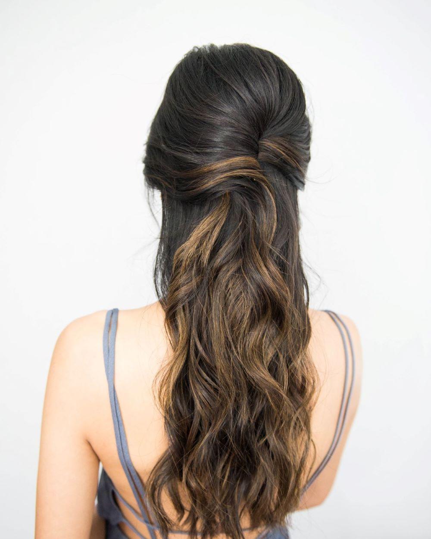 Bridal Hair Tutorial Stun With A Half Up Half Down Wedding