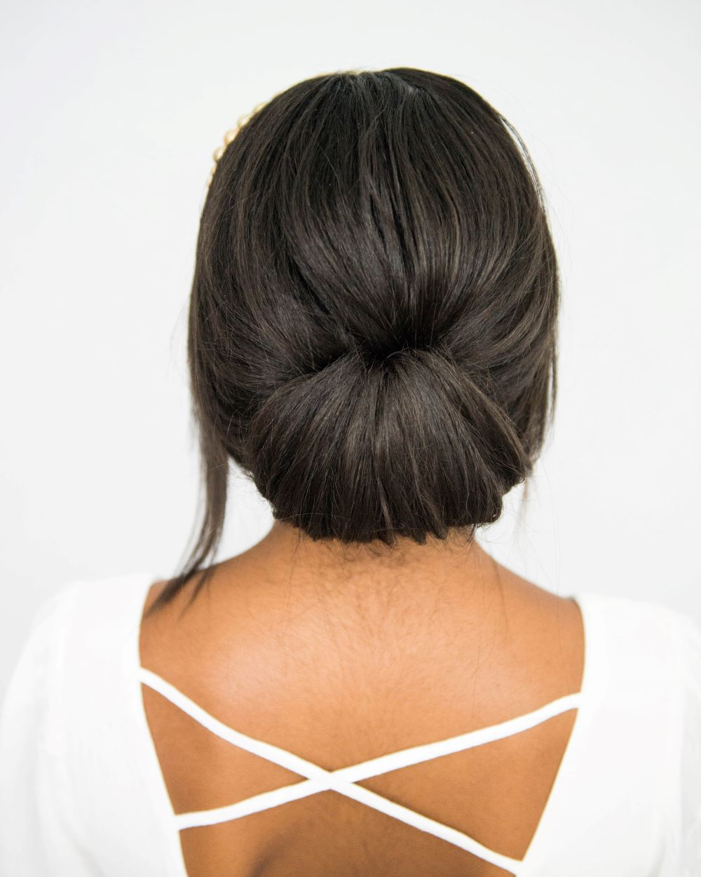 The Right Hairstyle For Your Wedding: Headband Hairstyles For Brides: An Easy Low Updo Perfect