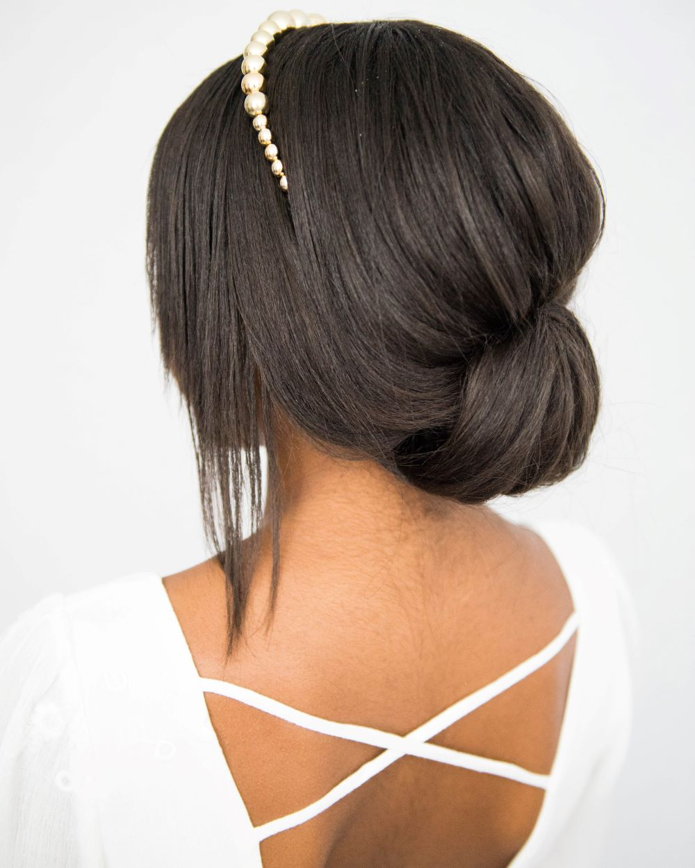 Headband Hairstyles For Brides An Easy Low Updo Perfect For