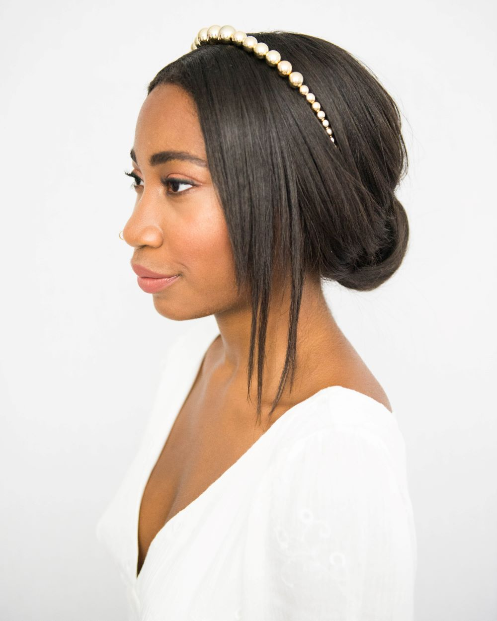 Wedding Hairstyles Headband: Headband Hairstyles For Brides: An Easy Low Updo Perfect