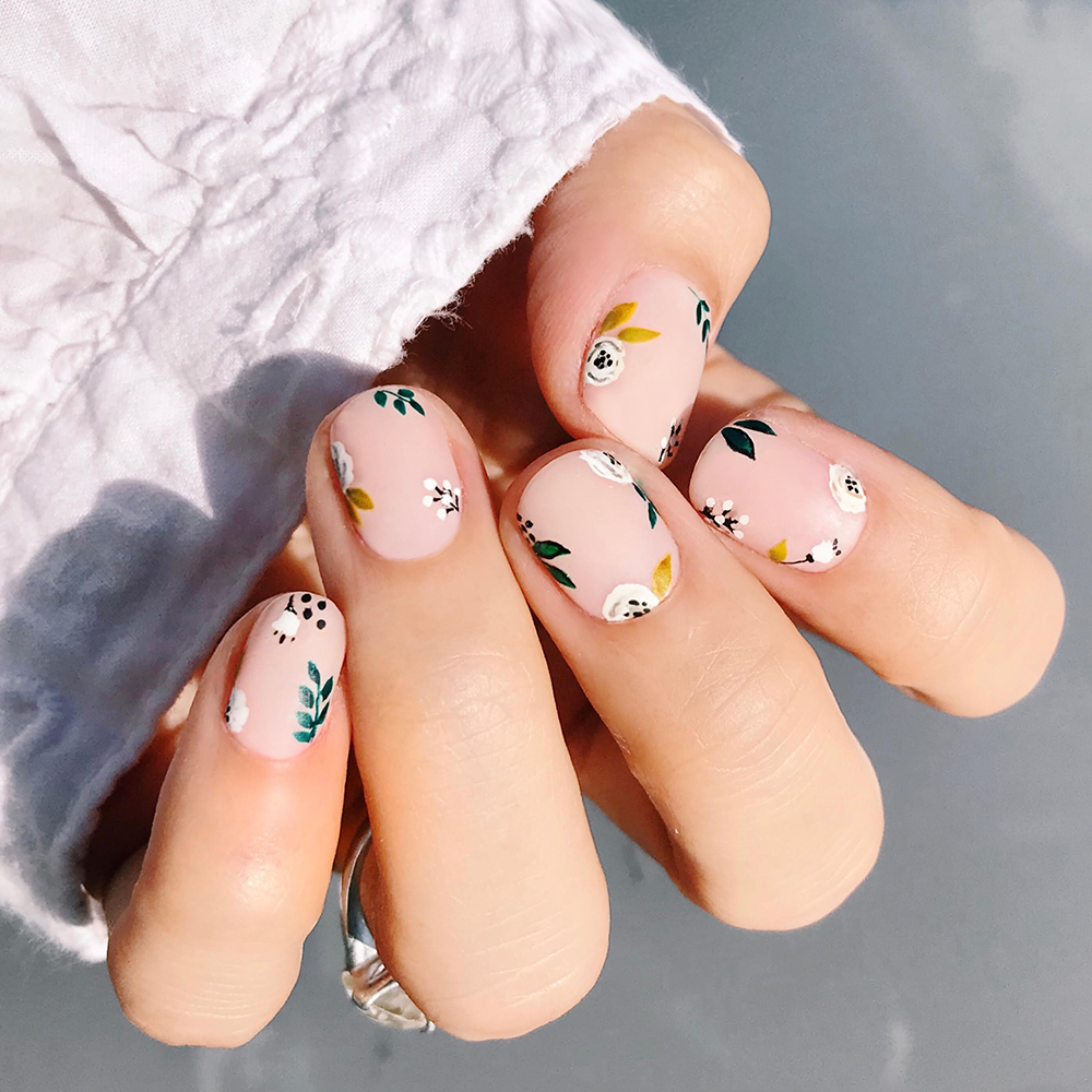 Wedding Nails Floral Fall Nail Designs How To Lulus Com