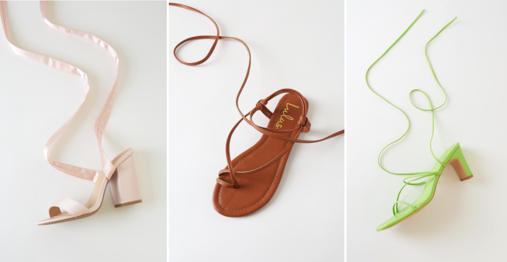 lace up sandals for spring