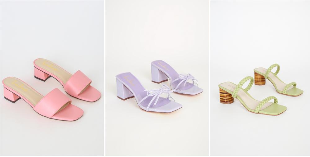 pop pastel sandals for spring