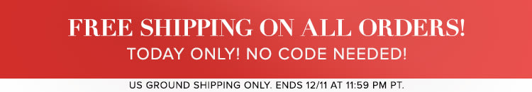 Today Only! Free Shipping on All Orders! No Code Needed! - Shop Now!