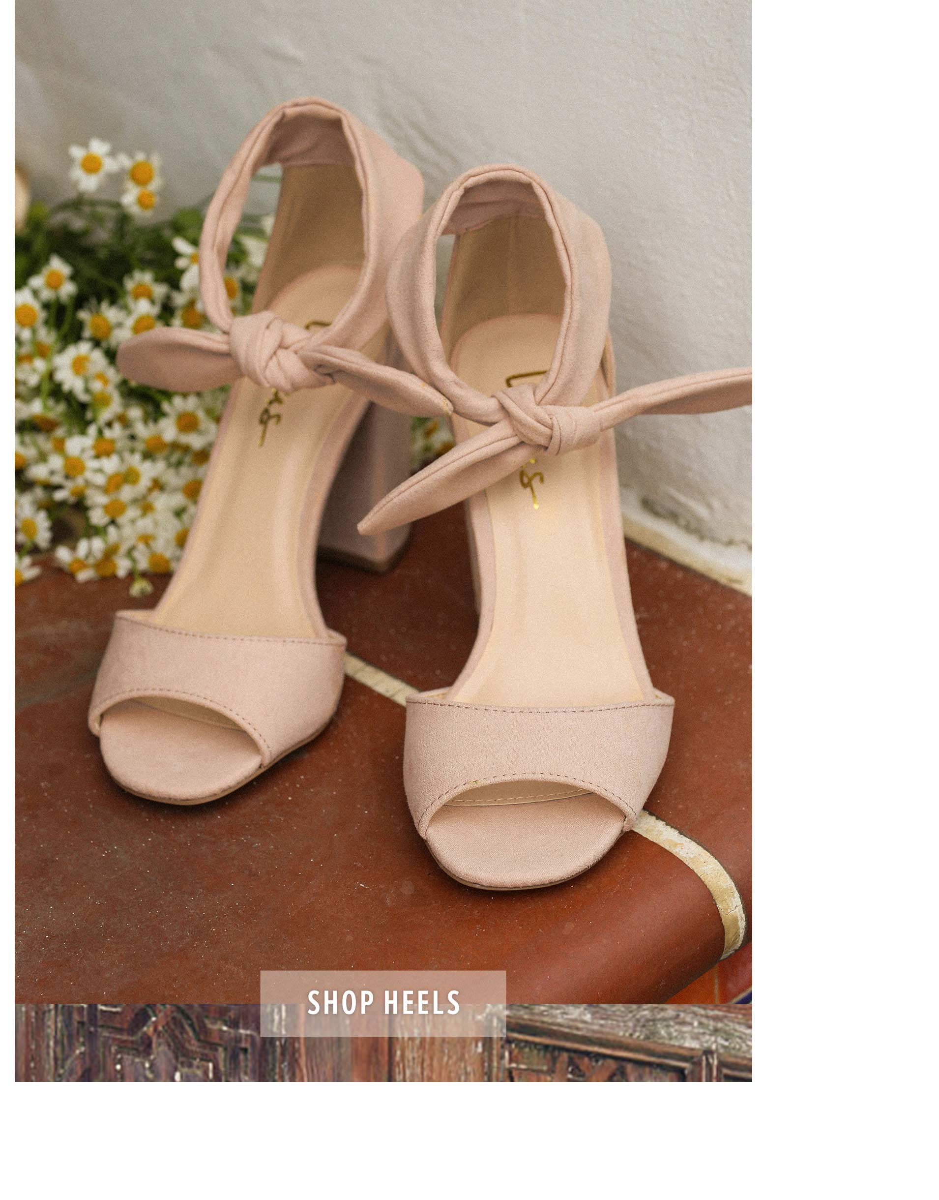 ... dress feminine display of pale pink heels with bow 88cb240b4ccb