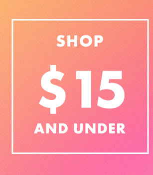Shop $15 and Under at the Outlet Sale