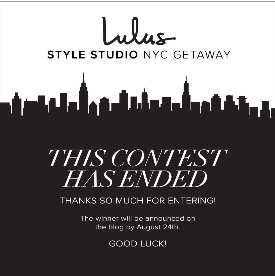 Lulus Style Studio NYC Getaway Has Ended!