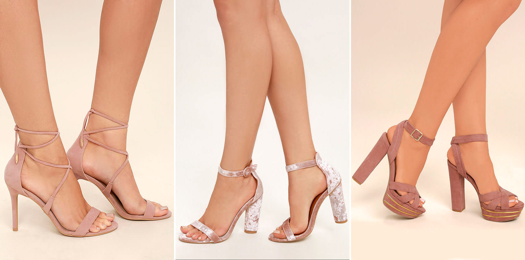 prom shoe styles - blush