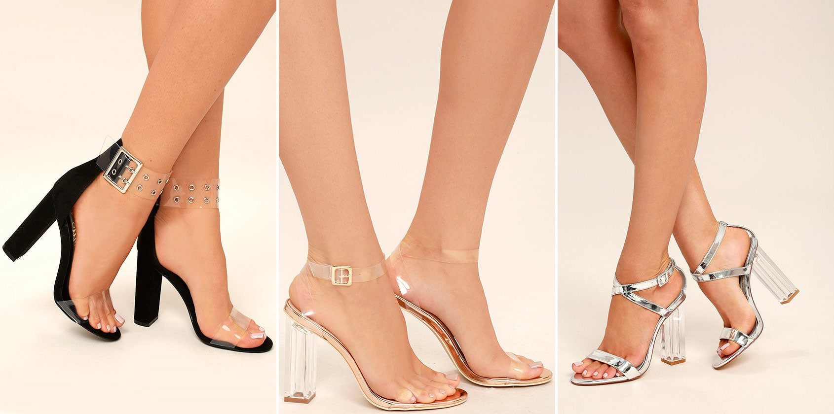 prom shoe styles - lucite