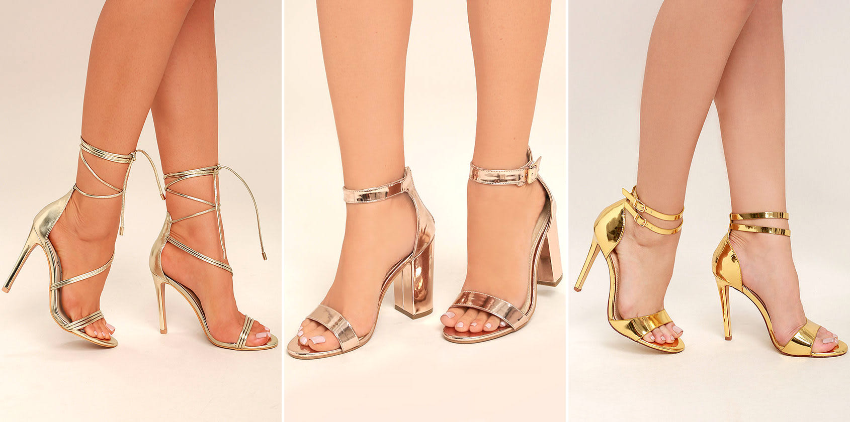 prom shoe styles - metallic