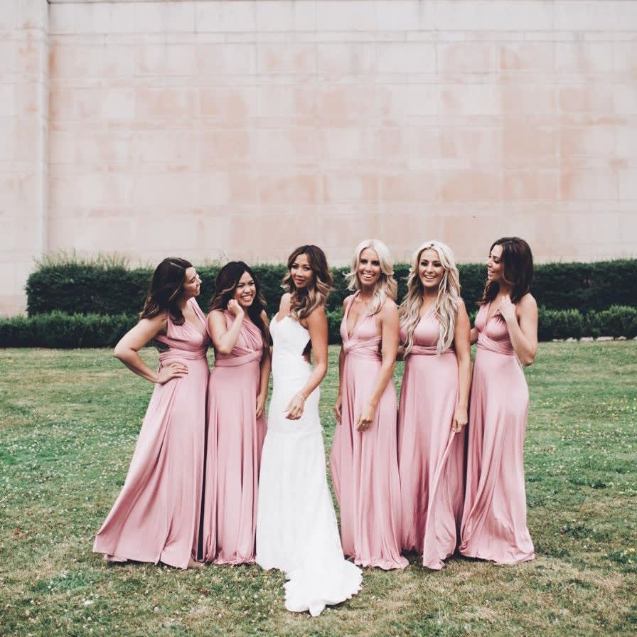 Bridesmaid Dress Roundup - always stunning pink 1