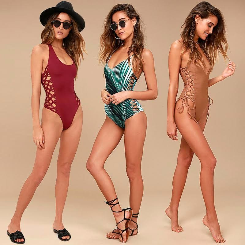 Swimwear 2017 - Trends Lace-Up One-Piece