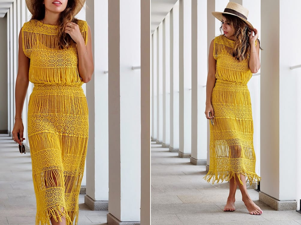 What to Pack: Yellow Crochet Dress