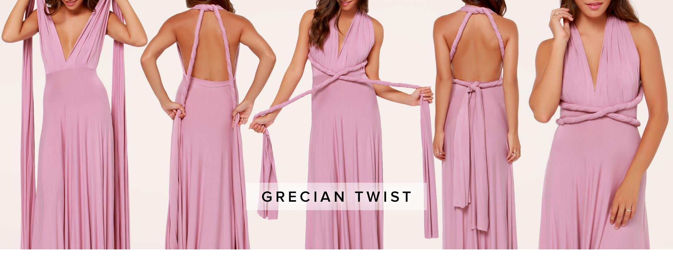 how to tie a convertible wrap dress - grecian twist