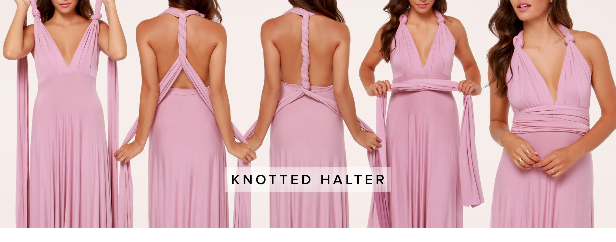 how to tie a convertible wrap dress - knotted halter