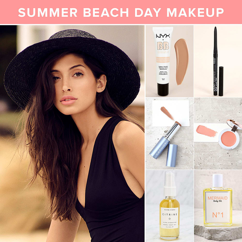 summer makeup looks - beach day makeup ideas