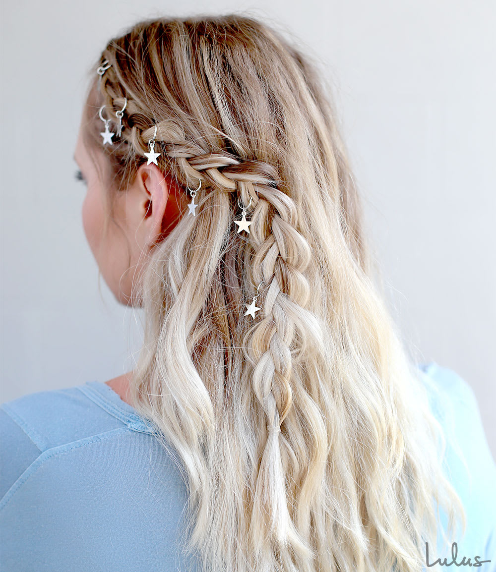 Trendy boho braid tutorial using hair rings lulus boho braid tutorial at lulus baditri Choice Image