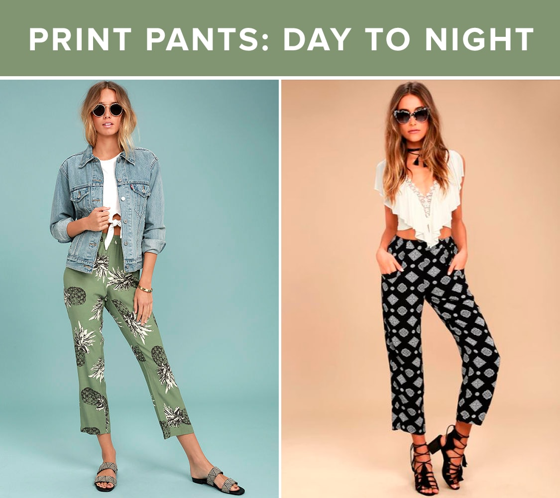 Vacation Style - Print Pants