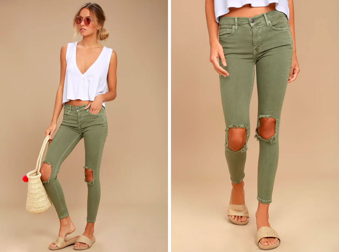 Fall Trends - Olive Denim