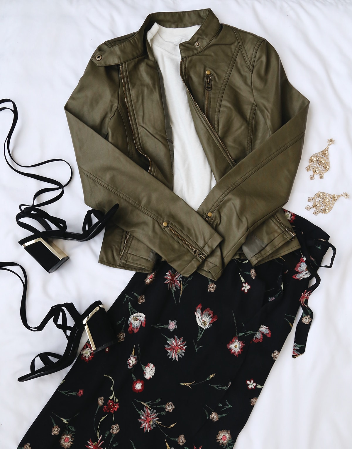 fall florals - skirt