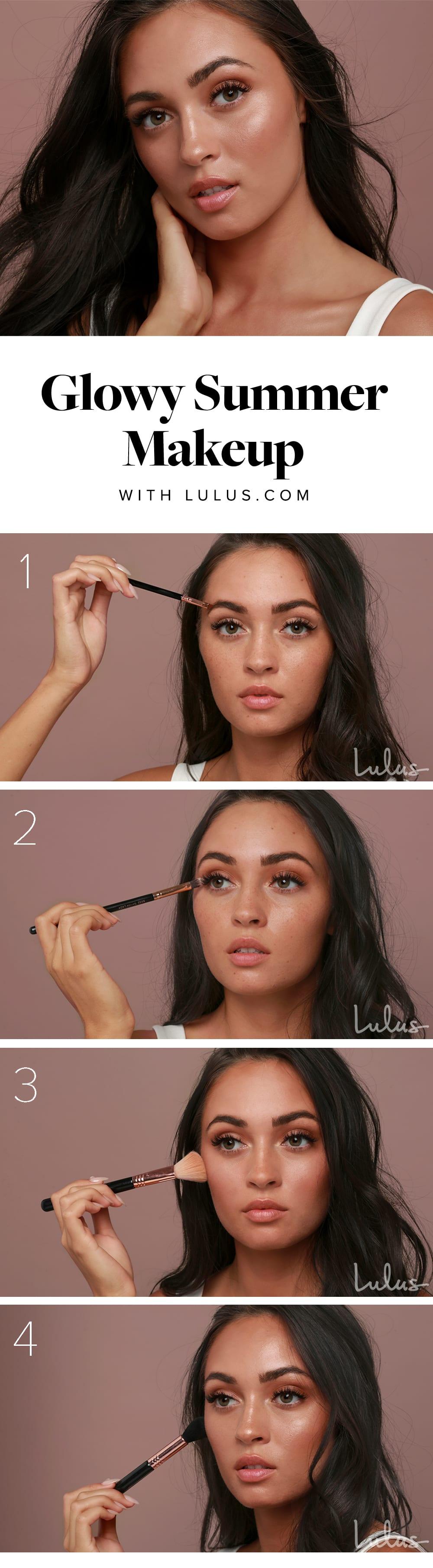 glowy summer makeup tutorial - header image